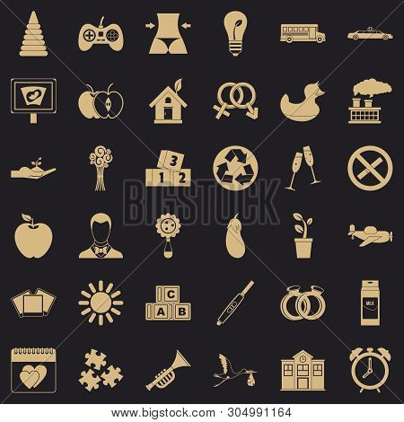 Ordinance Icons Set. Simple Set Of 36 Ordinance Vector Icons For Web For Any Design
