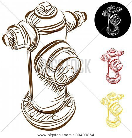 An image of a fire hydrant drawing.