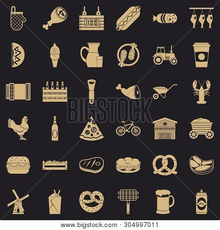 Gastronome Icons Set. Simple Set Of 36 Gastronome Vector Icons For Web For Any Design