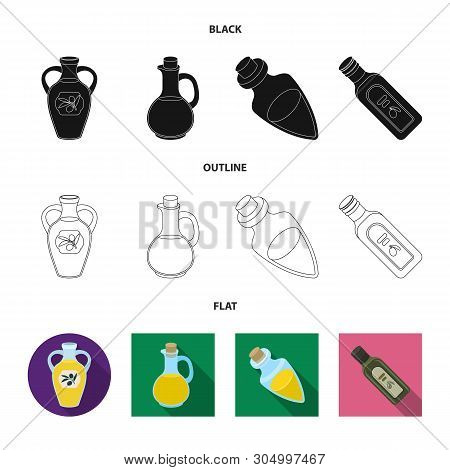 Isolated Object Of Food  And Bung Sign. Collection Of Food  And Oil  Vector Icon For Stock.