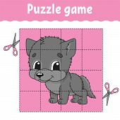Puzzle game for kids . Education developing worksheet. Learning game for children. Activity page. For toddler. Riddle for preschool. Simple flat isolated vector illustration in cute cartoon style. poster