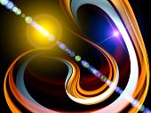 Motion loops background suitable as a backdrop for projects on motion space modern technologies and entertainment poster