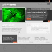 Gray Website Template 960 Grid. eps 10 poster