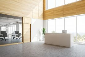 Reception Counter In Modern Office