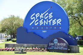 Houston, Tx - Apr 19: Space Center In Houston, Texas, On April 19, 2019. Its A Leading Science And S