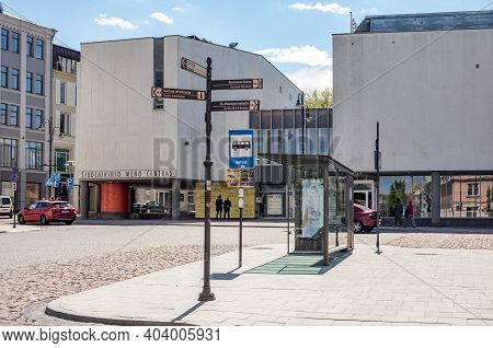 Vilnius, Lithuania - May 14, 2017: Contemporary Art Centre (cac) In Vokieciu Street Of Vilnius, Lith
