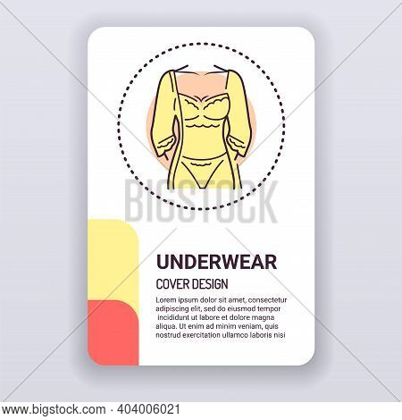 Lingerie Brochure Template. Category Of Womens Clothing Including At Least Undergarments, Sleepwear