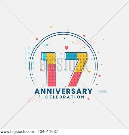 17 Years Anniversary Celebration, Modern 17th Anniversary Design
