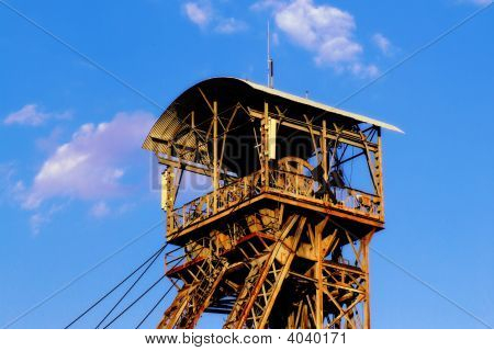 Old Rusty Mining Tower