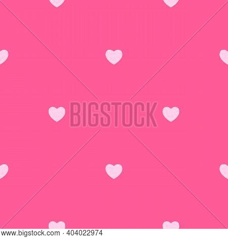 Abstract Simple Seamless Pattern With Hearts. Vector Illustration Eps10