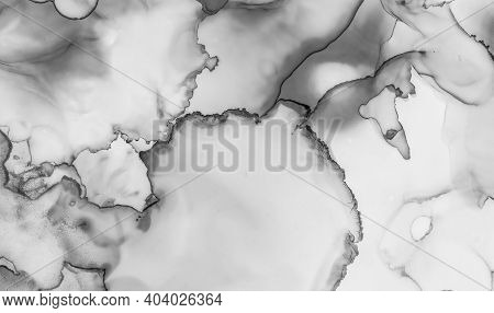 Grey Marble Texture. Luxury Architecture. Watercolor Ceramic Pattern. Light Tile Effect. Marble Text