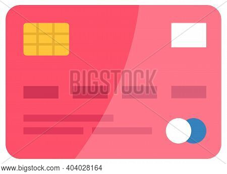 Plastic Credit Card For Payment, Financial Operations. Debit Card To Pay Contactless Vector Illustra