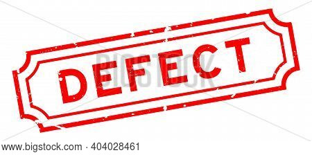 Grunge Red Defect Word Square Rubber Seal Stamp On White Background