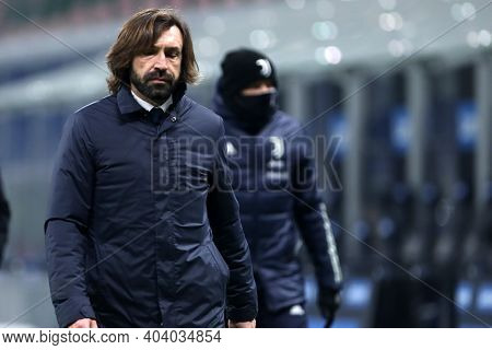 Milano, Italy. 17th January 2021 . Andrea Pirlo, Head Coach Of Juventus Fc  During The Serie A Match