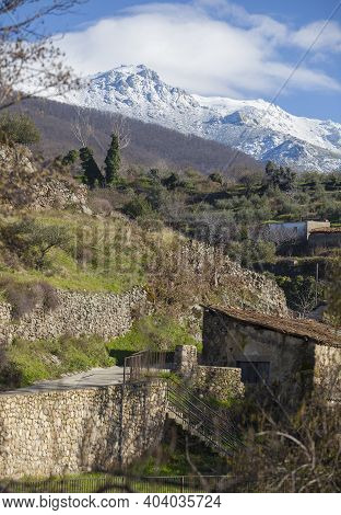 Hervas Hamlet Northern View, Ambroz Valley Village. Caceres, Extremadura, Spain