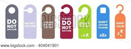Do Not Disturb Tag. Dont Disturb Banner In Hotel. Please Do Not Disturb Collection. Hanging Label In