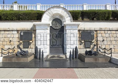 Sevastopol, Crimea, Russia - July 26, 2020: Monument To The Heroes Of The 1941-1944 Squadron In The