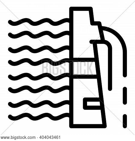 Hydro Power Alternative Icon. Outline Hydro Power Alternative Vector Icon For Web Design Isolated On