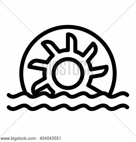 Hydro Power Energy Icon. Outline Hydro Power Energy Vector Icon For Web Design Isolated On White Bac