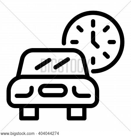 Car Smart Consumption Icon. Outline Car Smart Consumption Vector Icon For Web Design Isolated On Whi