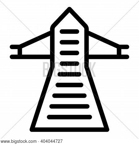 Electric Tower Consumption Icon. Outline Electric Tower Consumption Vector Icon For Web Design Isola