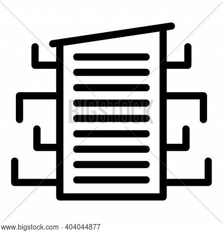 Equipment Consumption Icon. Outline Equipment Consumption Vector Icon For Web Design Isolated On Whi
