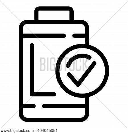 Full Battery Icon. Outline Full Battery Vector Icon For Web Design Isolated On White Background