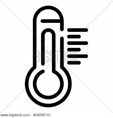 Outdoor Thermometer Icon. Outline Outdoor Thermometer Vector Icon For Web Design Isolated On White B