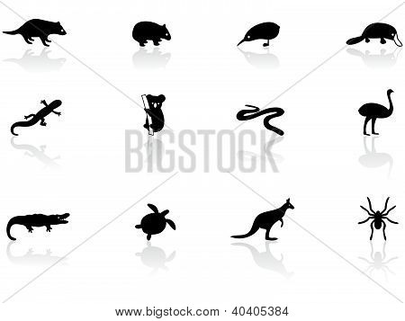 Australian animal icons