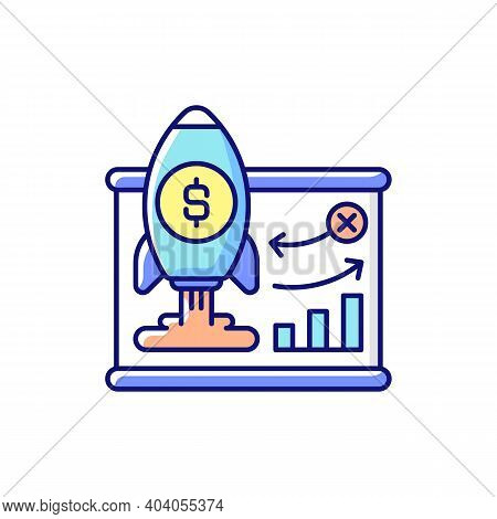 Business Model Rgb Color Icon. Company Plan For Making Profit. Strategy For Profitably Doing Busines