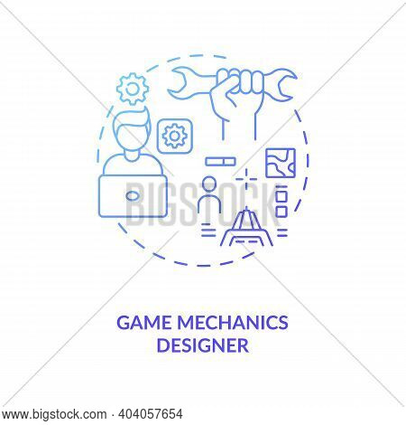 Game Mechanics Designer Concept Icon. Game Designers Types. Responsible For Gamers Playing Experienc