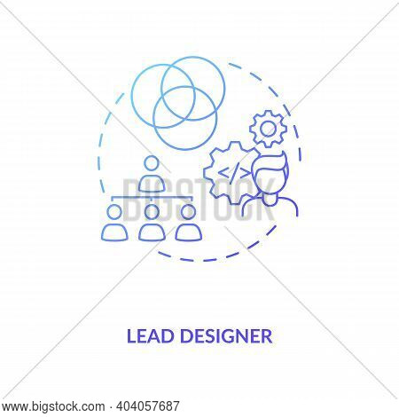 Lead Designer Concept Icon. Game Designers Types. Creating Modern Product With Powerful And Creative