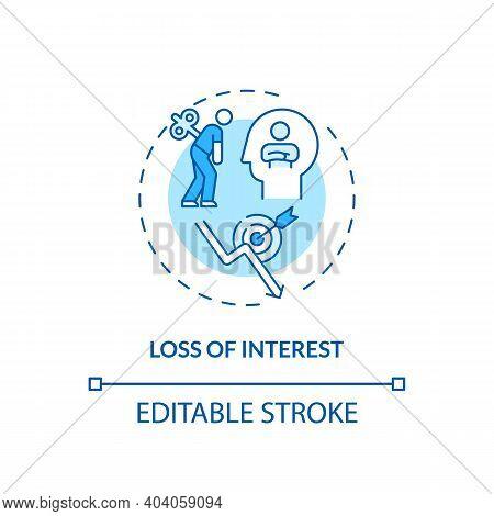 Interest Loss Concept Icon. Staff Development Disadvantage Idea Thin Line Illustration. Losing Conce