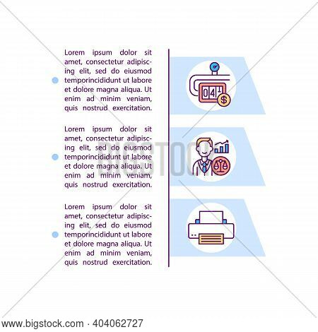 Administrative Overheads Concept Icon With Text. Overhead Costs Control. Salaries Of Senior Executiv