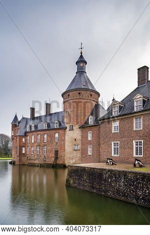 Castle Anholt Is One Of The Largest Water Castles In The Munsterland, Germany