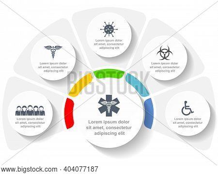 Medical Infographic Vector Template, Coronavirus Pandemic Web Presentation