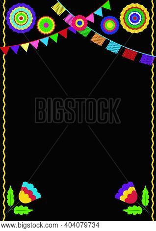 Mexican Fiesta Invitation. Mexican Party Card. Design Template For Mexican Restaurant Menu.