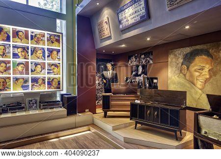 Guayaquil, Guayas, Ecuador - November, 2013: Interior Of The Music Museum Displaying Memorabilia In