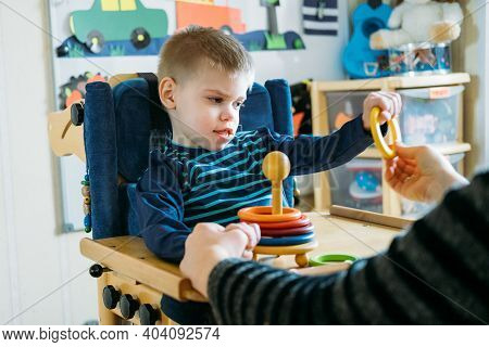 Activities For Kids With Disabilities. Preschool Activities For Children With Special Needs. Boy Wit