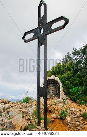 Crucifix In Mirador, Ojen In Marbella Spain