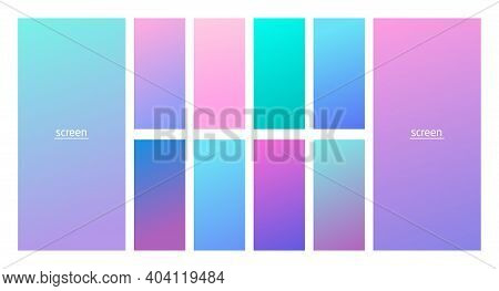 Soft Pastel Gradient Smooth And Vibrant Color Background Set For Devices, Pc And Modern Smartphone S