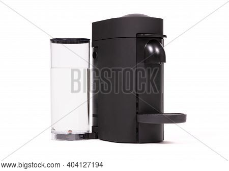 Automatic Coffee Machine Isolated On White Background
