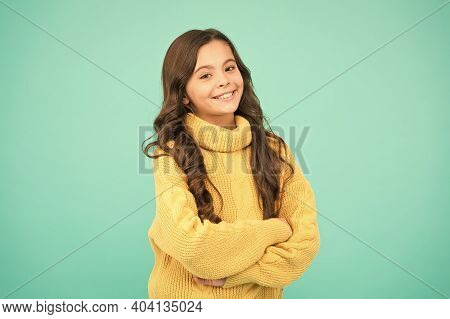 Gorgeous Hairstyle. Positivity Concept. Emotional Baby. Positive Child. Positive Attitude To Life. P