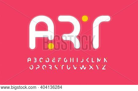 Art Creative Alphabet, Modern Abstract Font Design.uppercase Cropped Letters For Art Gallery Or Kids