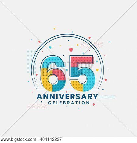 65 Years Anniversary Celebration, Modern 65th Anniversary Design