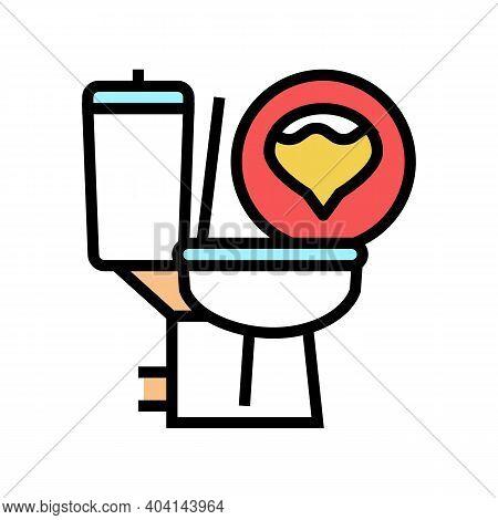 Urine Diabetes Symptom Color Icon Vector. Urine Diabetes Symptom Sign. Isolated Symbol Illustration