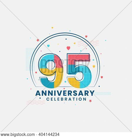 95 Years Anniversary Celebration, Modern 95th Anniversary Design