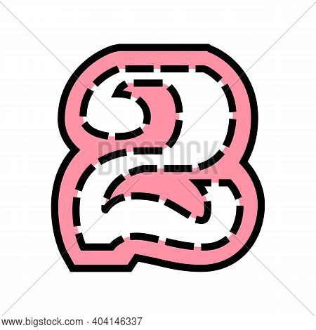 Second Number Color Icon Vector. Second Number Sign. Isolated Symbol Illustration