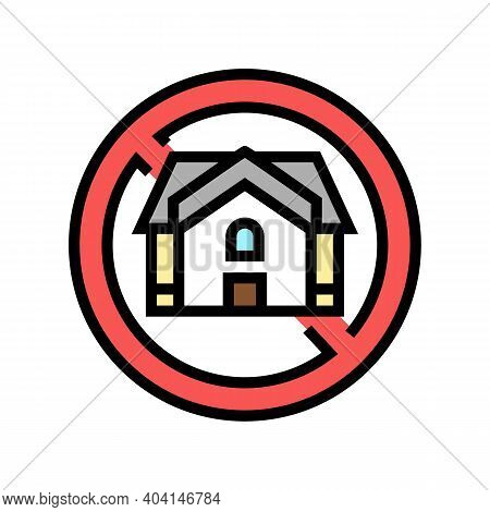 Homeless Poverty Problem Color Icon Vector. Homeless Poverty Problem Sign. Isolated Symbol Illustrat