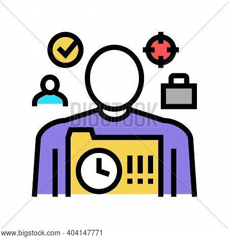 Responsibility People Value Color Icon Vector. Responsibility People Value Sign. Isolated Symbol Ill